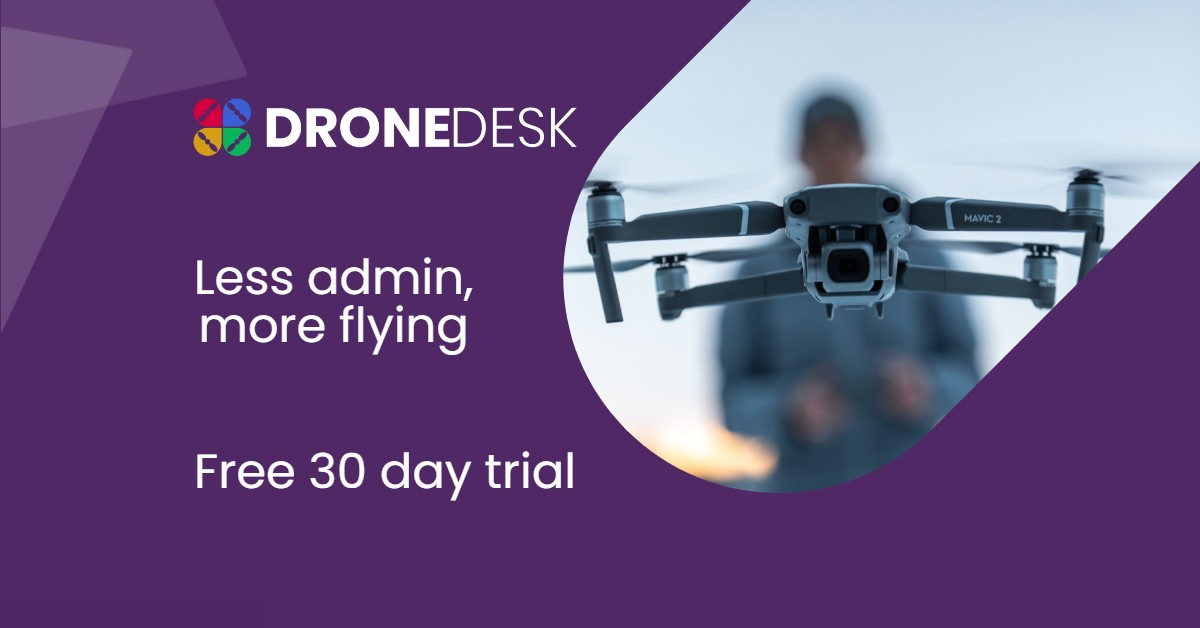 Dronedesk - the beautifully simple business admin and flight planning solution for commercial drone operators